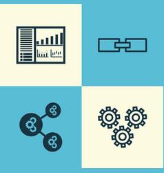 Robotics icons set collection of algorithm vector