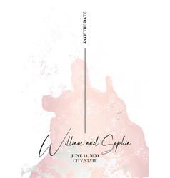 Save date card marble tender soft rose grunge vector
