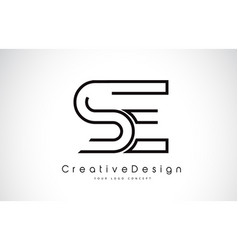 Se s e letter logo design in black colors vector