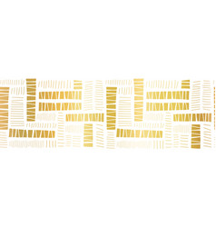 seamless border gold foil block stripes vector image