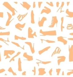 Seamless pattern of brown women shoes vector image