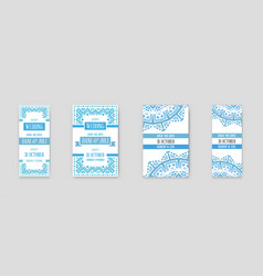 set design awesome wedding invitation template vector image