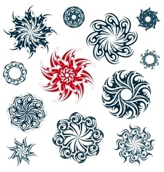 Set of ethnic ornaments vector image