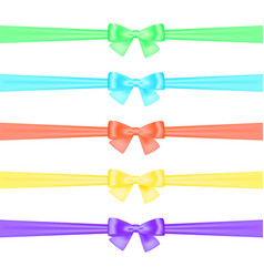 set of satin ribbons vector image