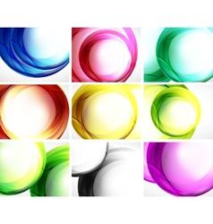 Set of swirl backgrounds vector image