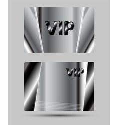 Silver VIP Club Card vector