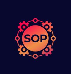 Sop icon standard operating procedure art vector