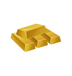 Stack of gold bars ingots bullions banking vector