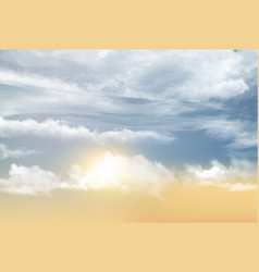 sunset sky background with transparent clouds vector image