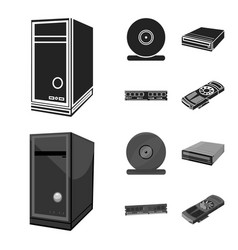 system unit memory card and other equipment vector image