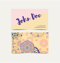 Template business cards pattern with islamic vector
