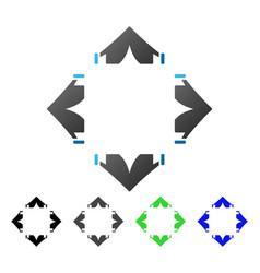 Tent camp flat gradient icon vector
