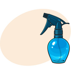 unlabeled transparent plastic hairdresser spray vector image