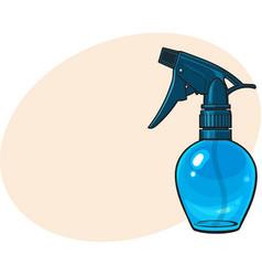 Unlabeled transparent plastic hairdresser spray vector