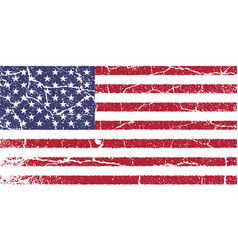 Usa old flag isolate banner print ill vector