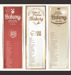 vintage bakery retro banner collection vector image