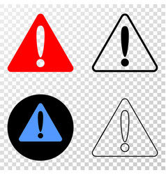 warning eps icon with contour version vector image