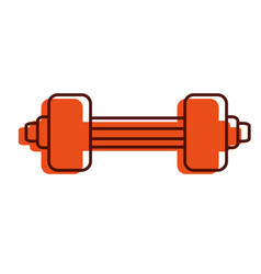 Weight lifting gym icon vector