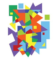 abstract colorful geometric pattern vector image vector image