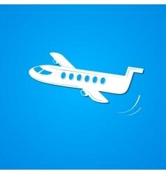 Plane symbol airplane logo vector image