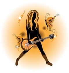 pop singer vector image vector image