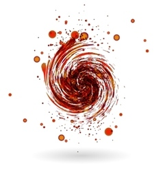 Red waves background vector image vector image