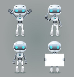 robot different poses innovation technology vector image vector image
