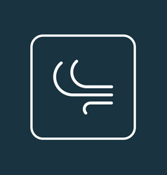 Wind outline symbol premium quality isolated vector