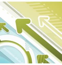 arrows techno background vector image