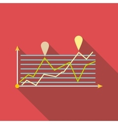 Growth chart infographics icon flat style vector image vector image