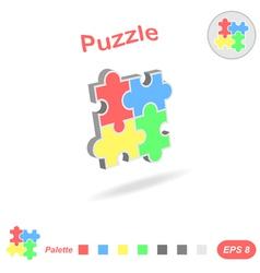 Puzzle logo conception vector image vector image