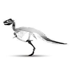 rex dinosaur tyrannosaurus silhouette animal vector image