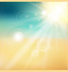 summer sun and beach shiny sunlight from the sky vector image