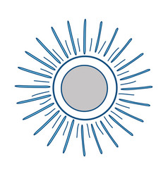 sun isolated symbol vector image vector image