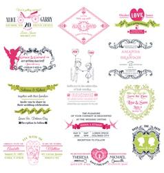Wedding set of design elements vector