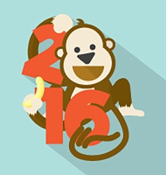 2016 Cute Monkey vector image