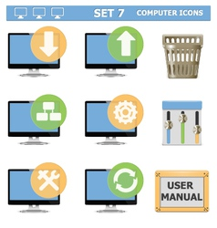 Computer Icons Set 7 vector image