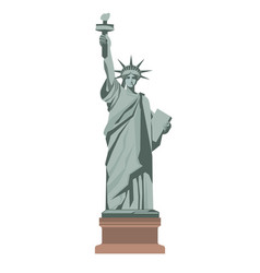 famous statue of liberty with torch isolated vector image