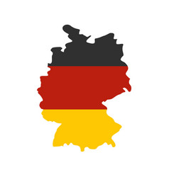 germany map with national flag icon flat style vector image vector image