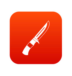 knife icon digital red vector image vector image