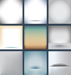 Many Backgrounds vector image vector image
