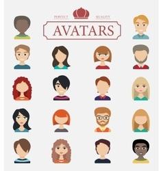 Set of avatars flat icons vector image