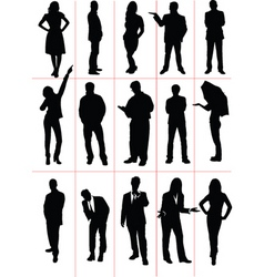 silhouettes people vector image