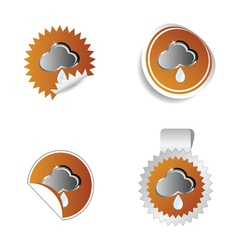 sticker weather forecast cloud and water drop vector image