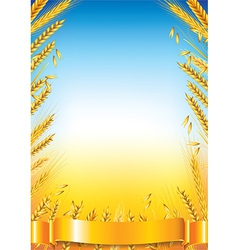 wheat vertical frame vector image