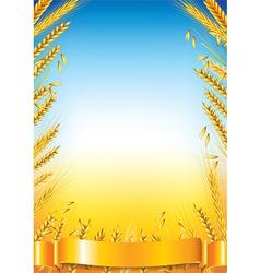 Wheat vertical frame vector