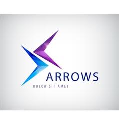 Arrows icon logo isolated vector