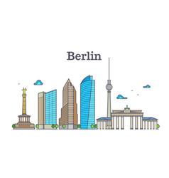 berlin silhouette skyline panorama city landscape vector image