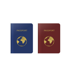 blue and red passports vector image