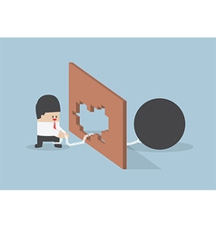 Turn crisis into opportunity vector image vector image